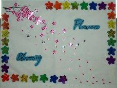 小学六年级墙面布置:花季盛开图片