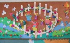幼儿园中班主题墙布置:春天森林里的小动物图片