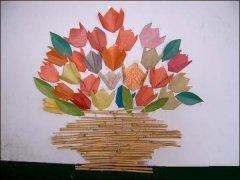 幼儿园墙面手工装饰:玫瑰花图片