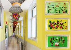 幼儿园狭长的楼道长廊设计装饰图片