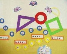 幼儿园数学区角主题墙布置图片:数学乐翻天_教室布置网图片