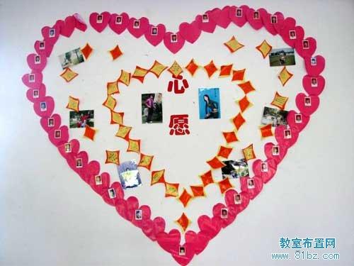 高中教室布置图片: 心愿墙