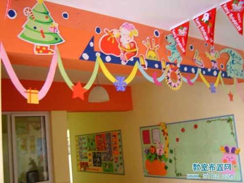 幼儿园圣诞装饰_幼儿园圣诞节布置图片:圣诞快乐图片(2)_教室布置网