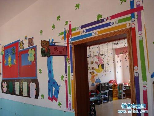 幼儿园教室门装饰图片:多彩缤纷的大门