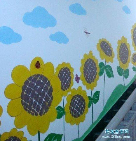 幼儿园楼梯布置图片:楼道墙壁装饰画
