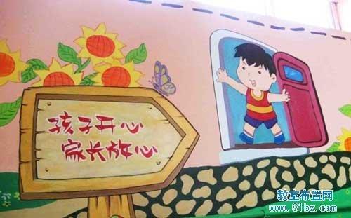 幼儿园墙面布置图片:墙壁装饰画