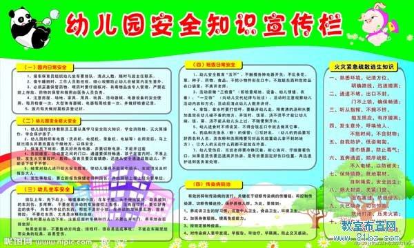 幼儿园宣传栏布置:幼儿园安全知识宣传栏