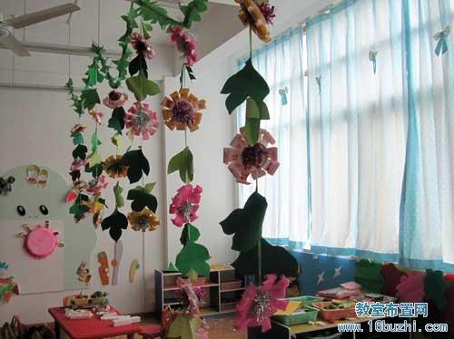 幼儿园吊饰布置:花朵叶子吊饰
