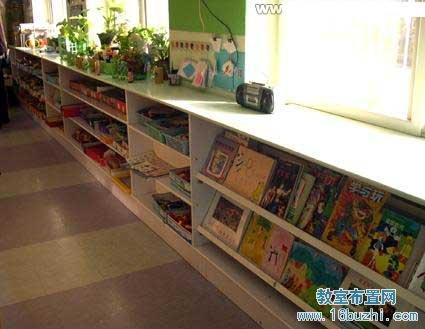 幼儿园大班图书角布置图片