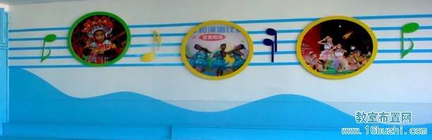 幼儿园音乐教室墙面装饰:音符