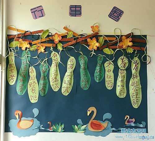 幼儿园主题墙布置:丝瓜墙