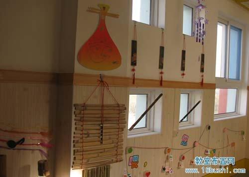 幼儿园走廊布置: 竹片装饰图片