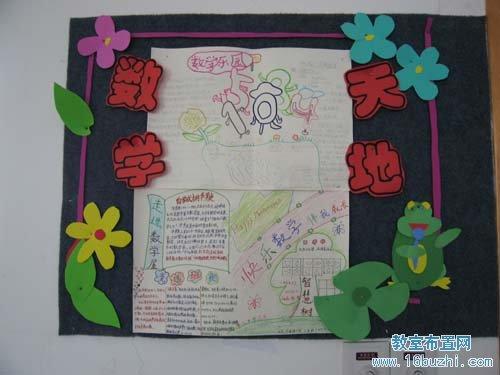 小学班级文化布置:数学天地图片