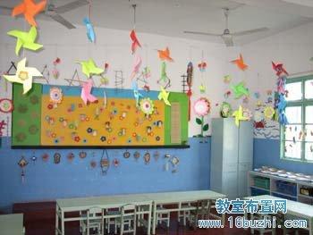 幼儿园吊饰装饰:风车_教室布置网图片