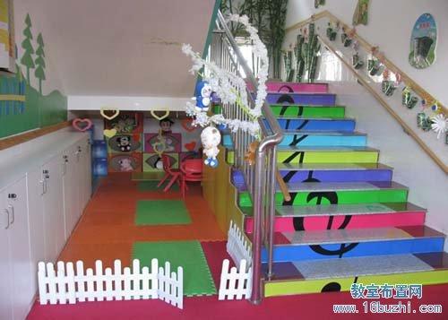 幼儿园楼梯环境装饰:可爱多彩的音符(2)图片