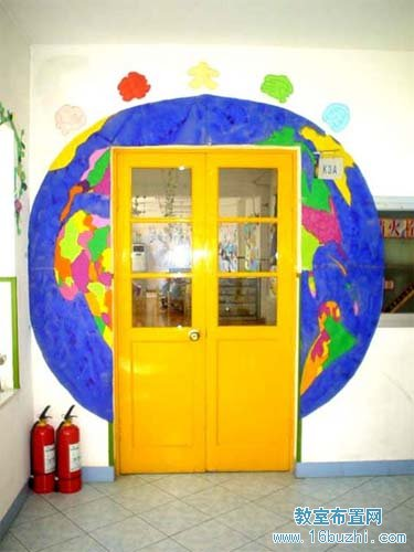 幼儿园门框美化装饰:美丽地球