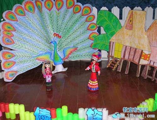 幼儿园游戏方案_幼儿园大班区角环境布置:傣族风情_教室布置网
