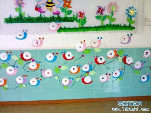 幼儿园走廊墙面装饰:蜗牛