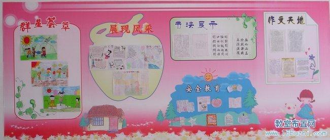 小学班级文化宣传栏设计:学生风采展示
