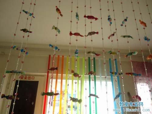 幼儿园小班室内吊饰装饰:糖果垂帘