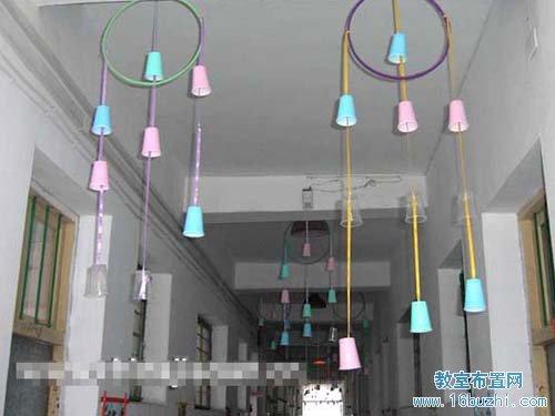 幼儿园走廊吊饰制作图片:9口杯