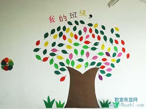 初中教室墻面裝飾:多彩樹