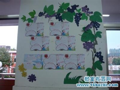 初中班级墙面装扮:美丽的葡萄藤架
