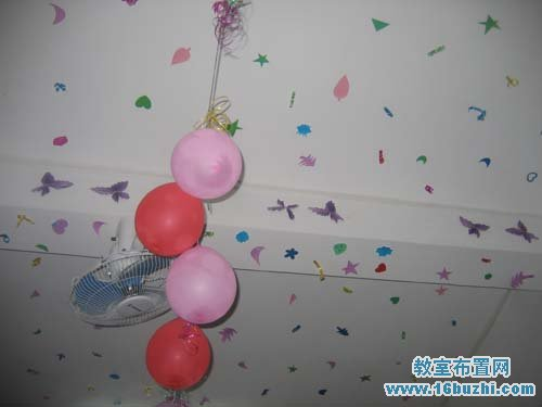 幼儿园教室天花板布置 素描画
