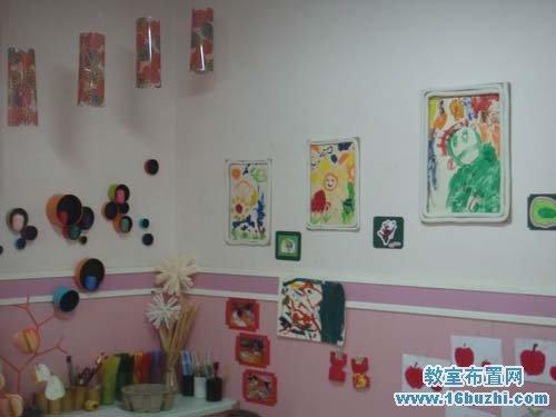 幼儿园美工墙饰布置:涂鸦作品