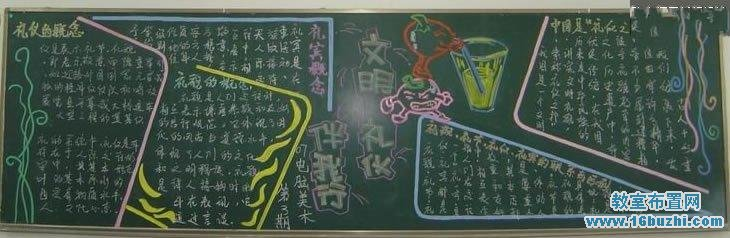 大学生文明礼仪主题黑板报