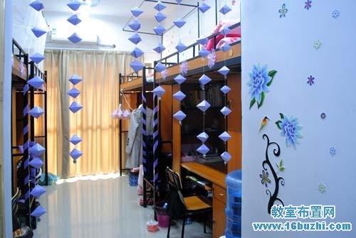 幼儿园毛巾_新学期大学寝室环境布置:淡雅蓝色格调_教室布置网