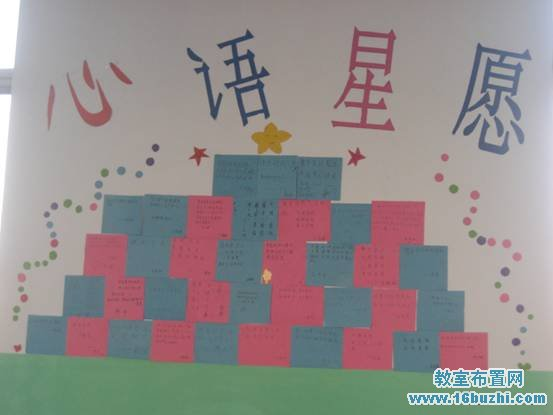高中班级照片墙设计