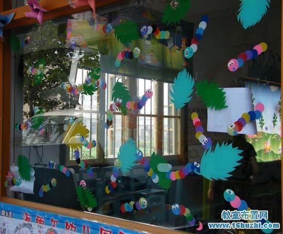 新学期幼儿园门窗布置:欢迎小朋友标语