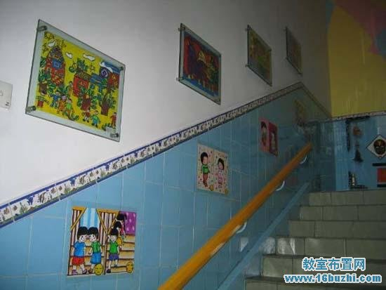幼儿园楼梯墙面布置:儿童画