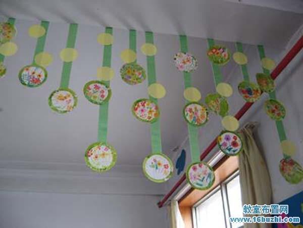 幼儿园中班吊饰设计:圆形图点缀