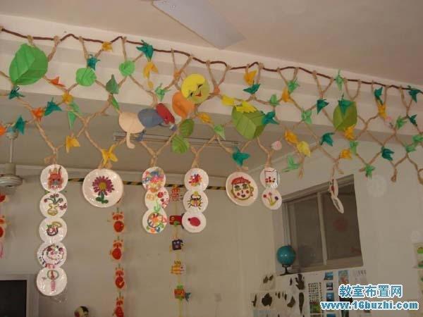 幼儿园中班吊饰装饰:可爱漂亮西瓜藤