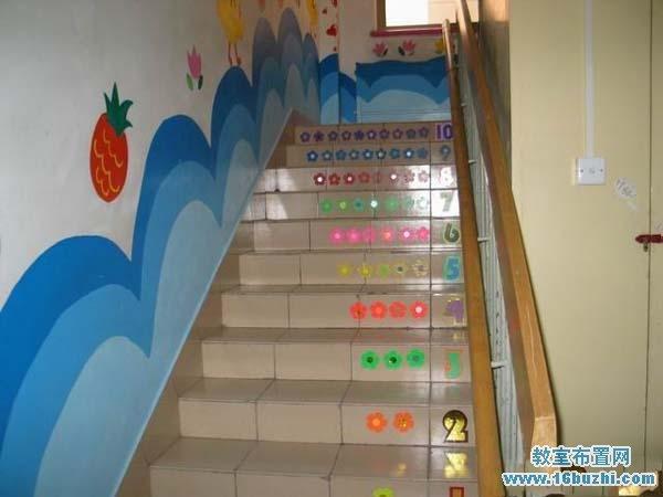 幼儿园楼梯环境布置:可爱的楼梯