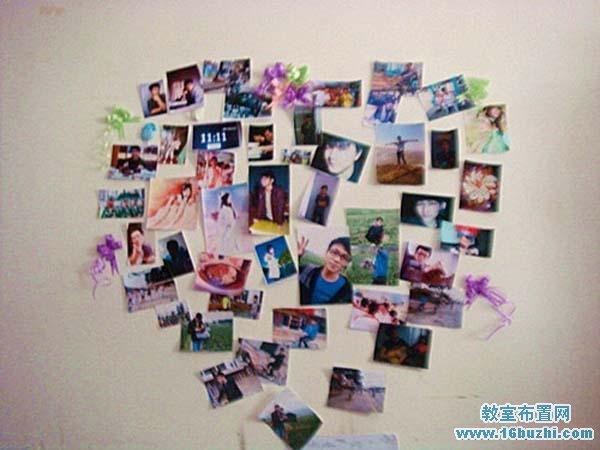 大学宿舍文化布置:心形照片墙