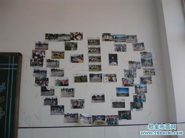 初一教室墙面布置 学生风采照片墙
