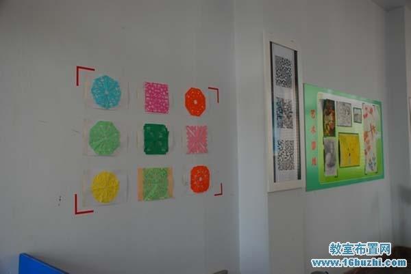 初一教室墙面装饰:五彩剪纸