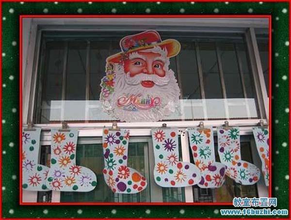 幼儿园圣诞装饰_幼儿园圣诞节门窗装扮_教室布置网