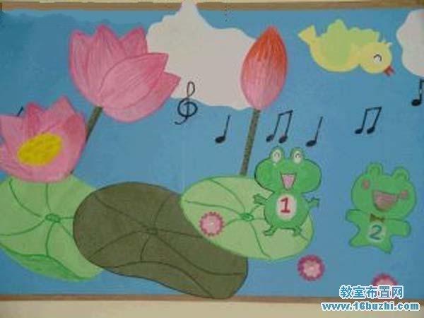 幼儿园夏季教室墙面装饰