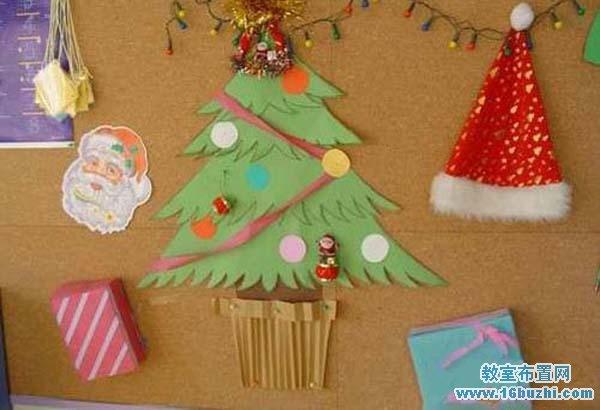 幼儿园圣诞节墙面装饰_教室布置网