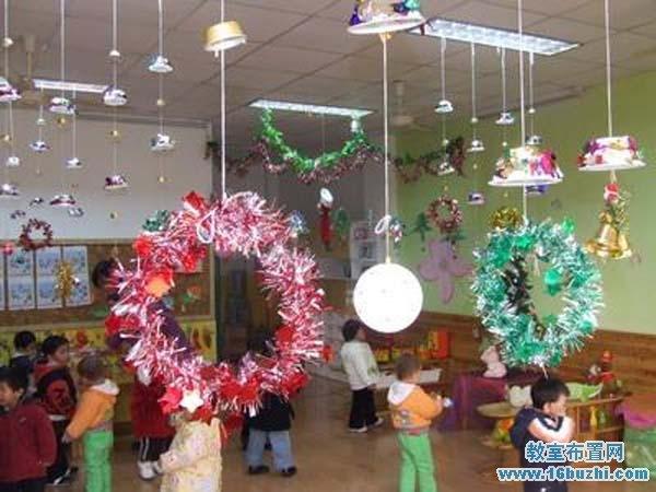 幼儿园圣诞节教室环境布置