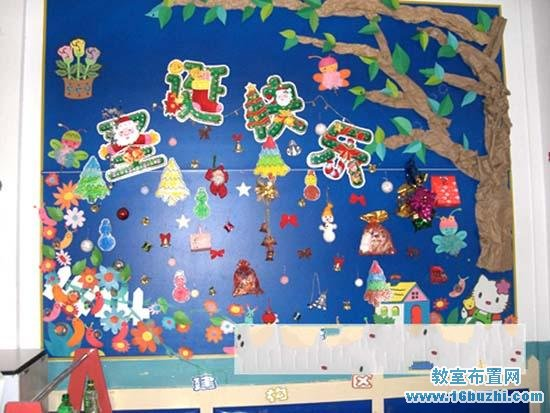 幼儿园圣诞节主题墙饰设计 圣诞快乐