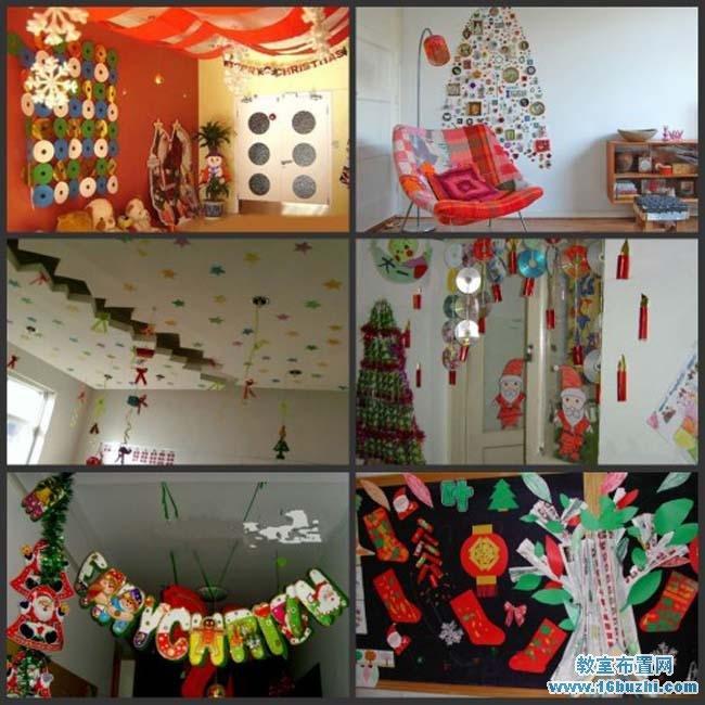 圣诞节环境布置_幼儿园圣诞节环境布置大全_教室布置网