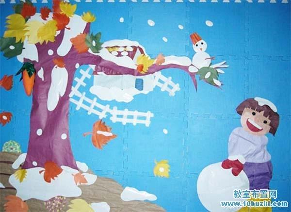 幼儿园冬天环境布置图片