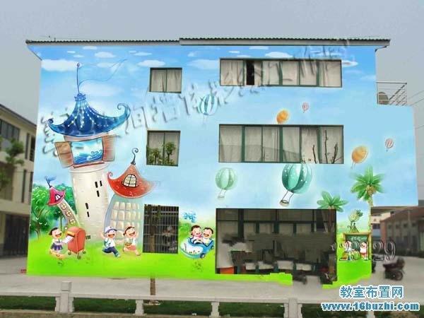 幼儿园外墙绘画装饰效果图