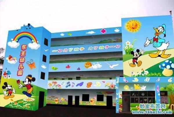 幼儿园外墙喷绘图片