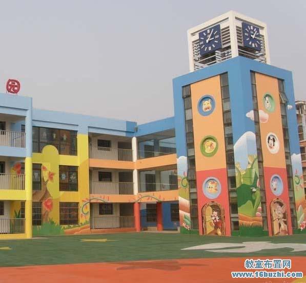 幼儿园学校外墙绘画图片